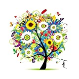 Labellevie Counted Cross Stitch Embroidery Kit DIY Needlework 45cm x 45cm: Tree of Life Summer