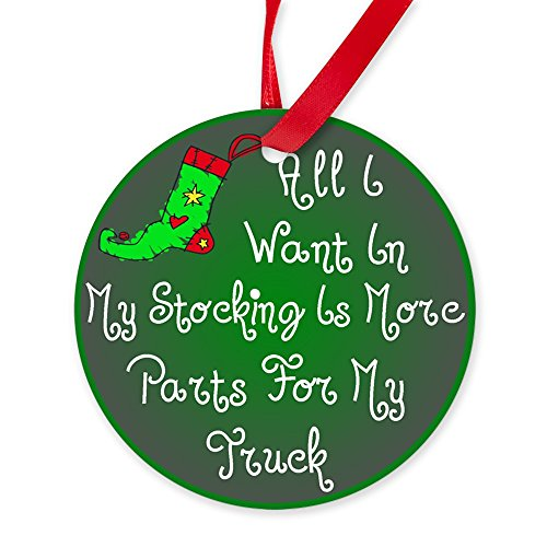 CafePress Truck Parts Christmas Ornament