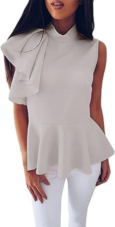 Ronamick Camisetas Transparentes De Mujer Moda Mujer Blusa Transparente Mujer Negra Tops Mujer Moda Mujer Camisa Cuadros Niño (Gris,S): Amazon.es: Hogar