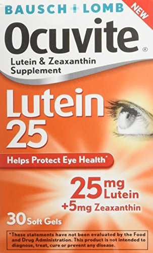 Bausch Ocuvite zeaxanthin supplements softgels product image
