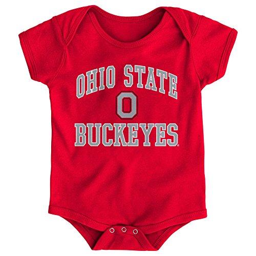 Gen 2 NCAA Ohio State Buckeyes Newborn & Infant Primary Logo Bodysuit, 18 Months, Red
