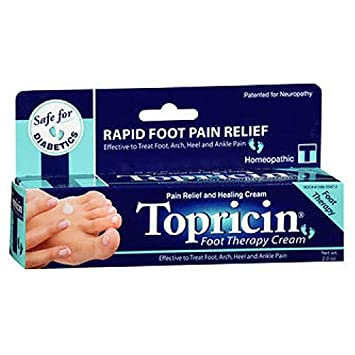 Topricin Foot Pain Relief Cream 8 oz Pack of 3