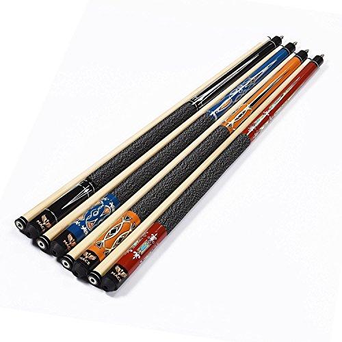 T&R sports MACE Pool Cues 58-Inch 2-Piece Hardwood Pool Table Billiard Stick Steel Joint,4 - Cue Billiard Pool Stick