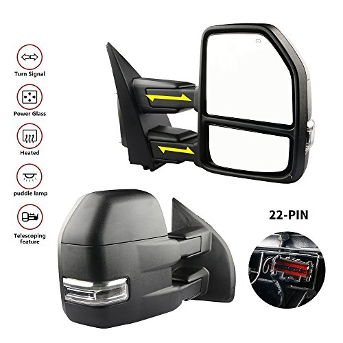 Buy Discount MOSTPLUS New Power Heated Towing Mirrors for Ford F150 2015 2016 2017 w/Turn Signal, Au...