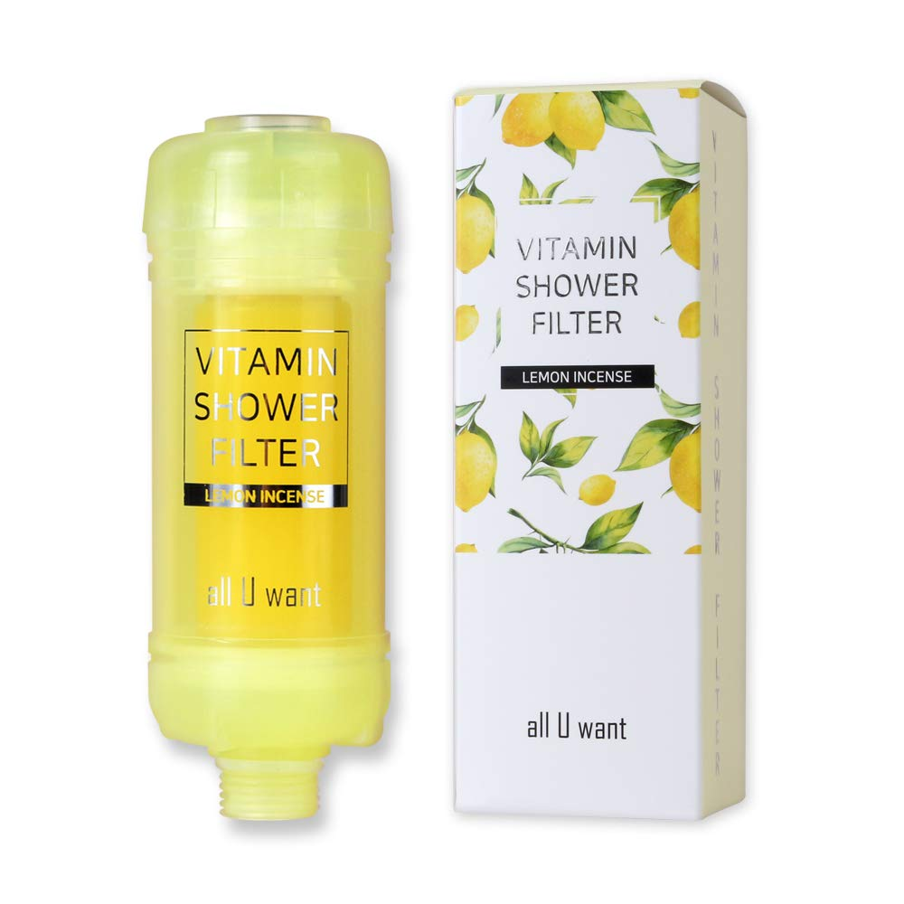 [All U Want] Vitamin+Peptide Shower Filter - Lemon. Improve atopic dermatitis+skin elasticity+hair protection+skin moisturize+antioxidation by All U Want