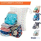 Simple Being Unisex Reusable Baby Cloth Diapers, Washable Adjustable Eco-Friendly, Soft Super Absorbent Fabric with Waterproof Cover (Outer Space), Shower Gift Registry