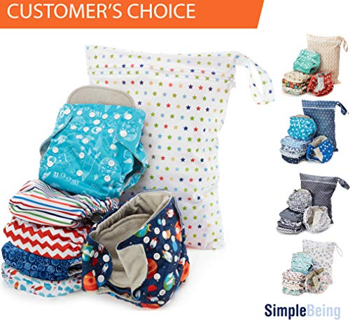 Simple Being Unisex Reusable Baby Cloth Diapers, Washable Ad
