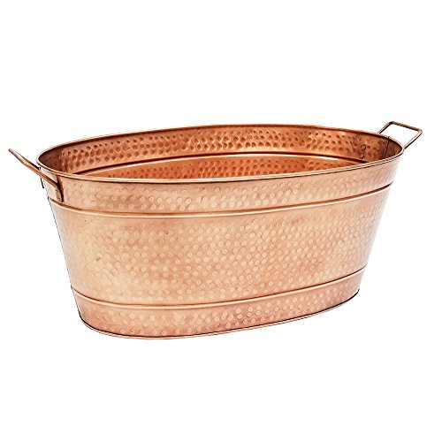 large outdoor copper planters - 4