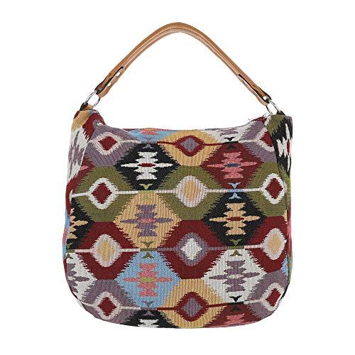 Multicolore Ital à femme Grün Size One l'épaule porter pour Sac à Design Multi rwgAYxr8