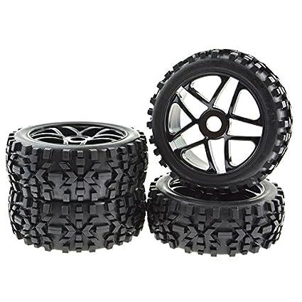 Amazon.com: 4 x Llantas RC Pentagram neumáticos neumáticos ...
