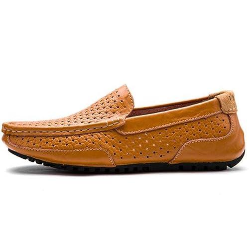 Los Zapatos Casuales de los Hombres del Verano Ahuecan hacia Fuera los Zapatos de conducción Respirables Mocasines: Amazon.es: Zapatos y complementos