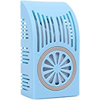 Odor Eliminator Odor Absorber Moisture Absorber for Refrigerator, Cars, Closets, Bathrooms and Pet Areas - Eunion Air Purifying Box, Shoe Deodorizer, Bamboo Charcoal Deodorants-Blue