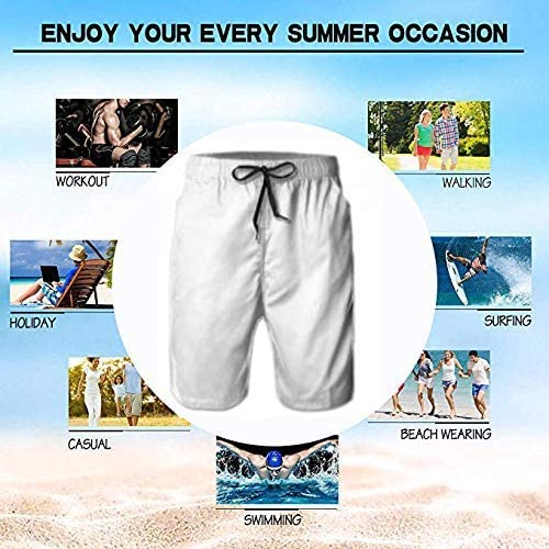 LOLOIJA New Mens Trunks Pants Quick-Dry Colorful Rocket Pattern Mens Swim Trunks Beach Board Shorts Surfing Shorts Bathing Suits Swimwear,L