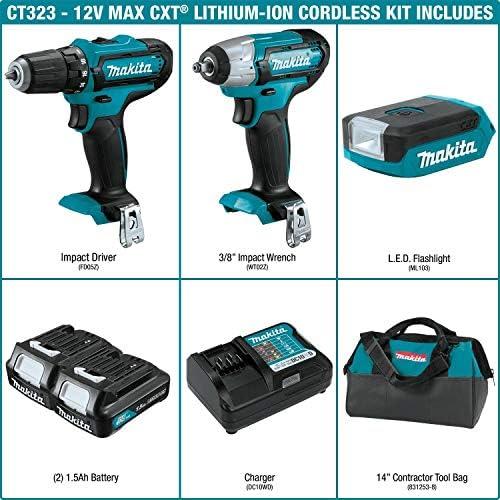 Fast Express Makita CT323 12V Max CXT Lithium-Ion Cordless 3-Pc. Combo Kit (1.5Ah) 7TEZgBi