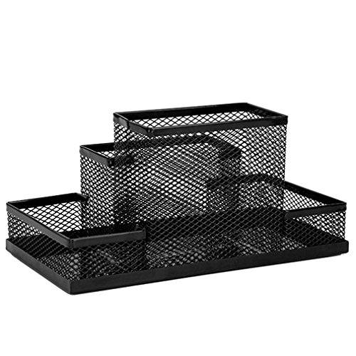 JUJU MALL-Metal Mesh Office Pen Pencils Holder Desk Stationery Storage Organizer - Oakland Detroit Mall