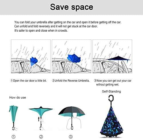 花びら 逆さ傘 逆折り式傘 車用傘 耐風 撥水 遮光遮熱 大きい 手離れC型手元 梅雨 紫外線対策 晴雨兼用 ビジネス用 車用 UVカット