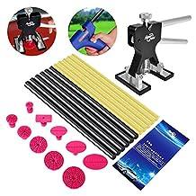 FLY5D® 27Pcs PDR Kits Dent Lifter Puller Tabs Glue Sticks for Car Paintless Dent Repair