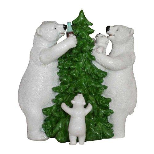 Coca Cola Polar Bear Family And Christma - Polar Bear Family Figurine Shopping Results