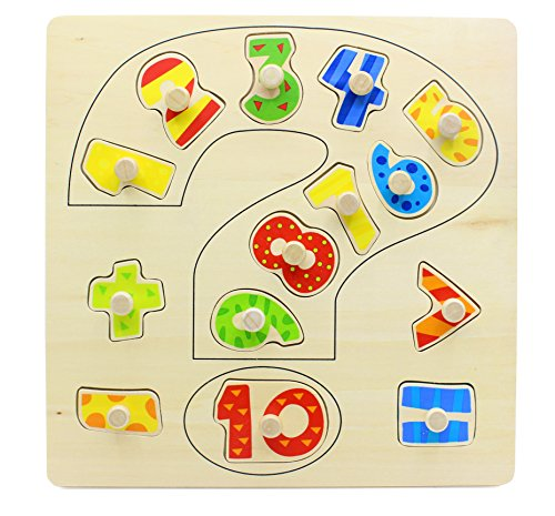 You Xi Wooden Number Puzzle Learning Toy for Toddlers Kids by You Xi