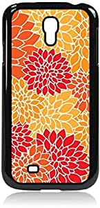 Flower Blooms - Case for the Samsung Galaxy S4 i9500- Hard Black Plastic Snap On Case with Soft Black Rubber Lining
