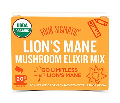 Four Sigmatic Organic Mushroom Elixir Mix With Lions Mane And Antioxidants For Concentration   Focus  Vegan  Paleo  Gluten Free  0 1 Ounce  20 Count