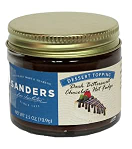 Sanders Bittersweet Fudge Dessert Topping, 2.5-Ounce Jars (Pack of 24)