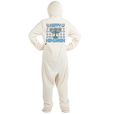 Amazon.com  CafePress - Happy Hanukkah - Novelty Footed Pajamas ... 7a7fff952