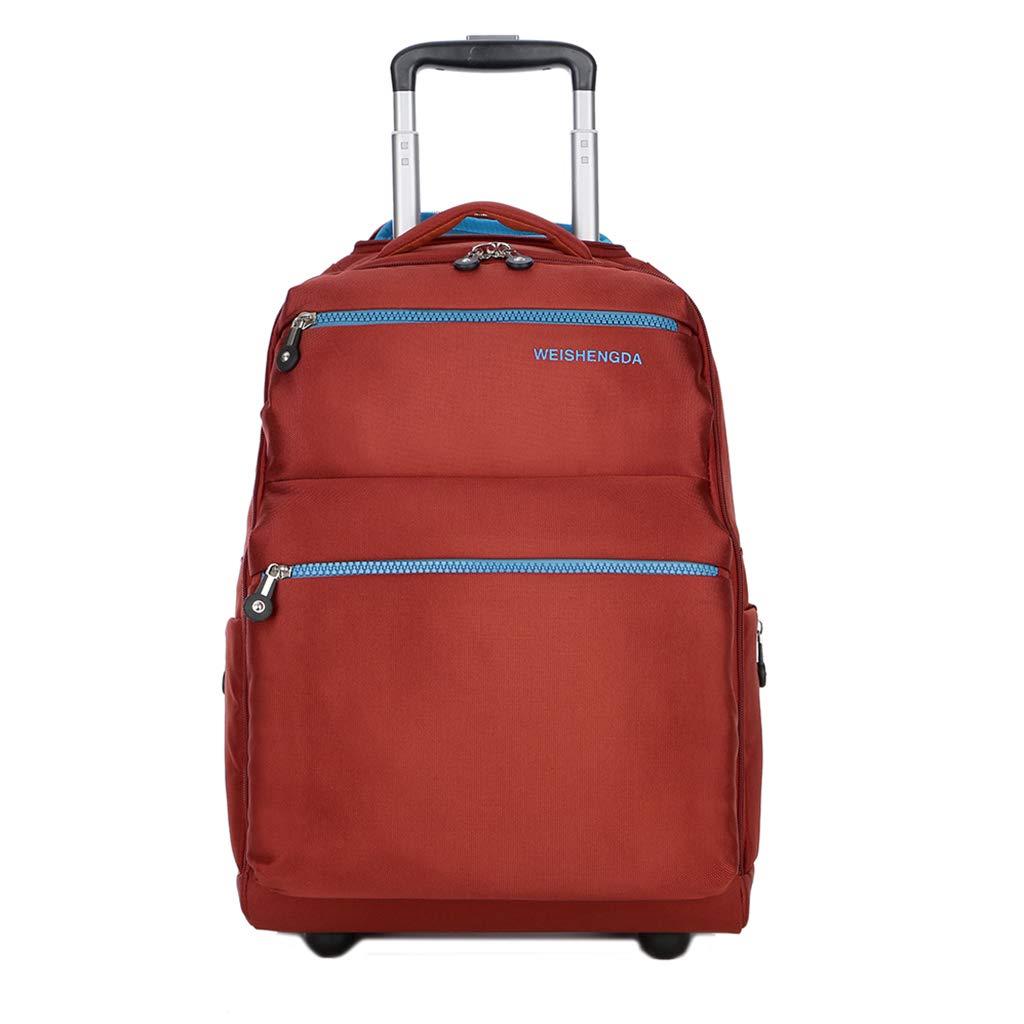 学校のラップトップバッグを旅する少年のためのトロリーバックパック大容量ストレージウィールドローリングバックパック防水旅の荷物 B07NMQNXZL