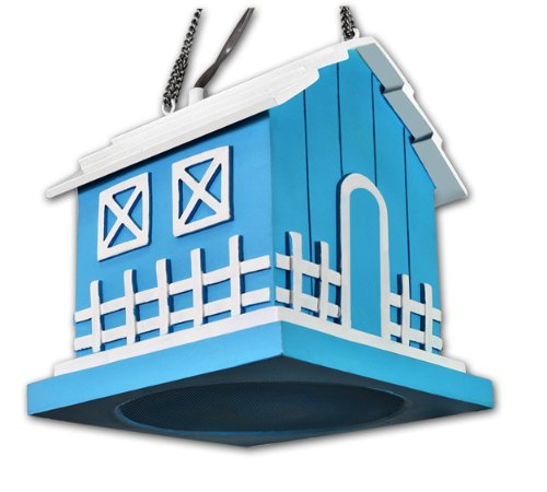 OSD Audio BH525 Single Blue Outdoor Hanging Bird House Speaker