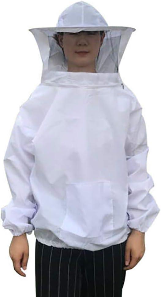 Beekeeper Beekeeping Protective Veil Suit Dress Jacket Smock Bee Hat White#2