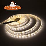 LED Rope Lights, Alanda 300 Warm White Strip LEDs Connectable Dimmable Tape Lights Indoor Outdoor Use Ideal for Backyards Weddings and Christmas Decor 32 Pack