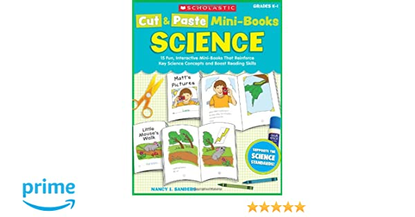 Amazon.com: Cut & Paste Mini-Books: Science: 15 Fun, Interactive ...