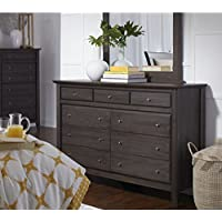 Modus City II 9 Drawer Dresser in Basalt Gray