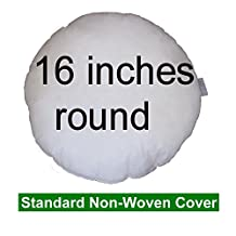 """Pillow Inserts 16"""" round 100% polyester fibre filled , cushion insert, pillow form"""