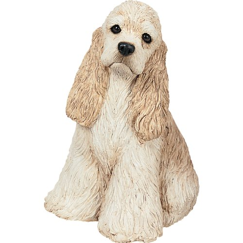 Figurine Sandicast (Sandicast Mid Size Buff Cocker Spaniel Sculpture, Sitting)
