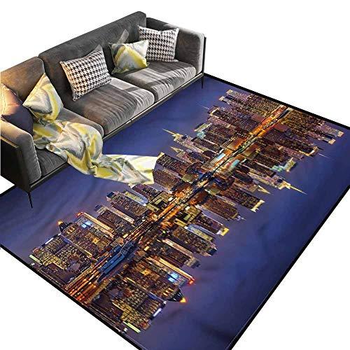 Halloween 5k New York (Landscape,Living Room Carpets,New York City USA Suitable for Home Decor,5 x 8)
