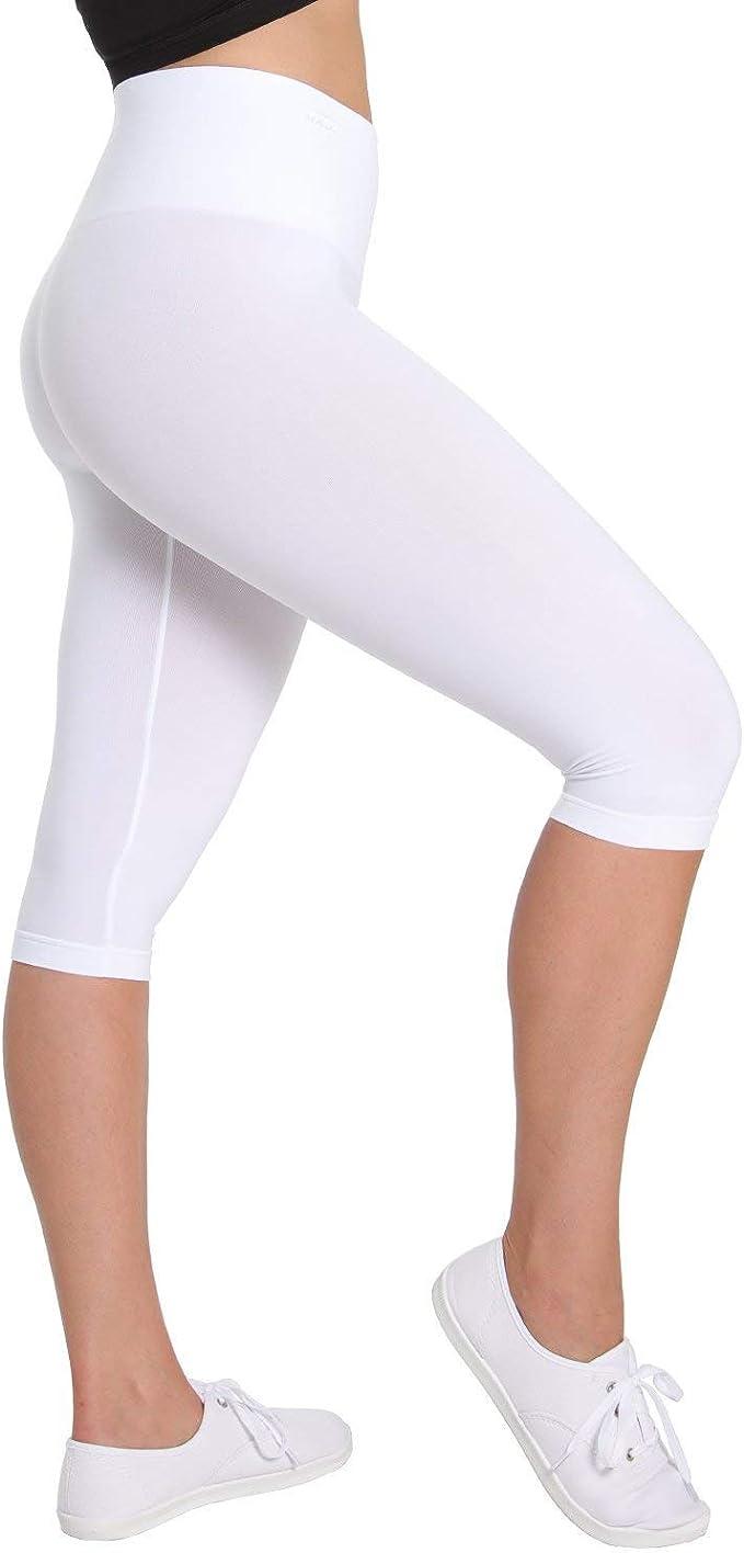 SlimMe High Waist Tummy Control Capri Shaper | Shapewear at ...