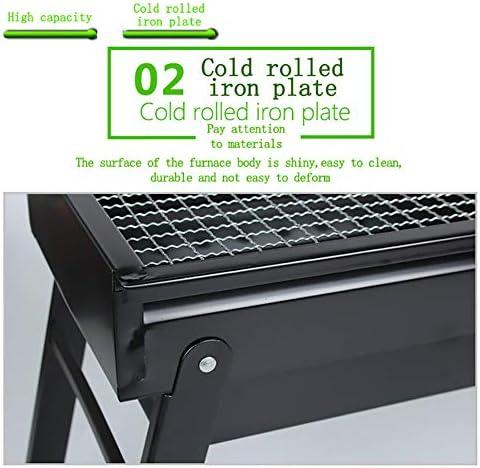 Bluting Grill Barbecue ExtéRieur De Table,Barbecue Charbon De Bois BBQ Gril Portable DéMontable pour Barbecue ExtéRieur De Jardin Camping Et Pique Nique,20x60cm