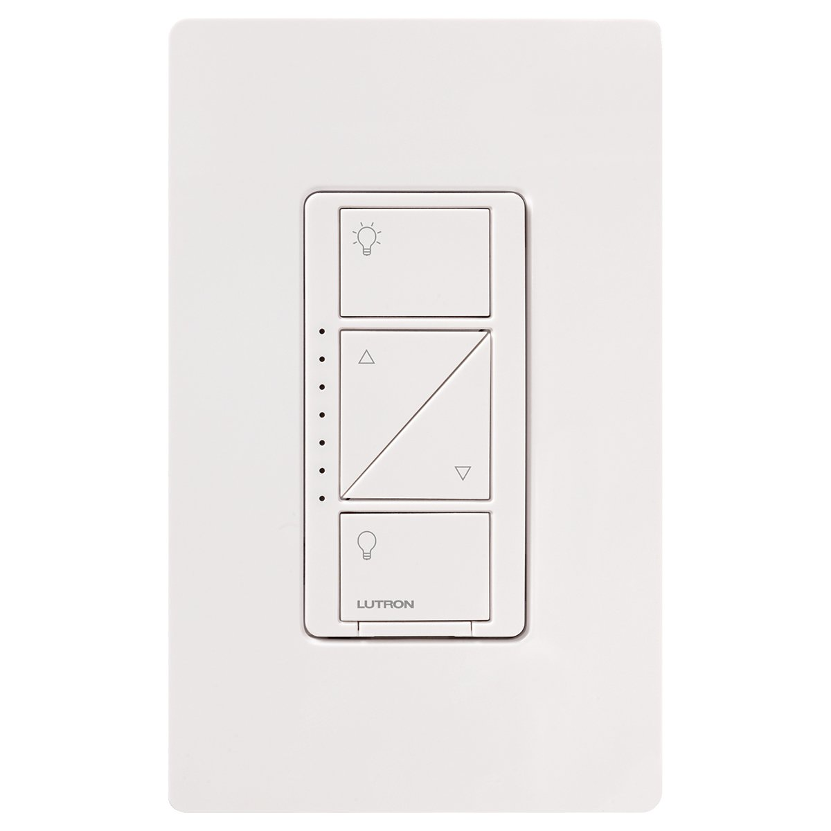 Lutron Caseta Wireless Smart Lighting Dimmer Switch for Wall & Ceiling Lights, PD-6WCL-WH, White, Works with Alexa, Apple HomeKit, and the Google Assistant by Lutron (Image #3)