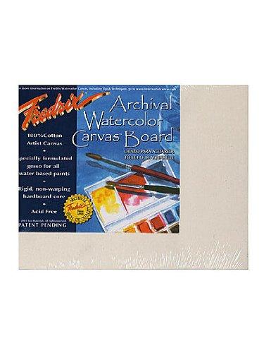 (Fredrix Archival Watercolor Canvas Board 8 in. x 10 in. each [PACK OF 3 ])