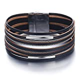 Best Bracelet Jewelries - 17mile Black Wrap Bracelet Multi-Layer Leather Bead St Review