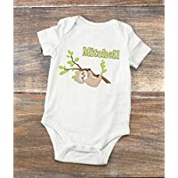 Sloth Baby Bodysuit - Personalized Baby Shower Present