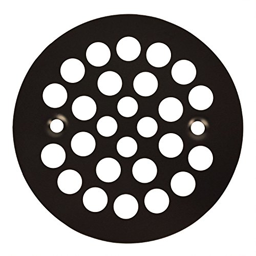 Oil Rubbed Bronze Round Shower Grate Drain 4-1/4' Replacement Cover