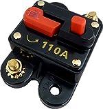 Jex Electronics 110 Amp In-Line Circuit Breaker Stereo/Audio/Car/RV 110A/110AMP Fuse 12V/24V/32V