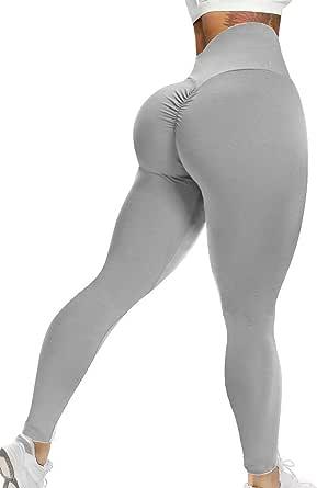 SEASUM Women Scrunch Butt Leggings High Waist Lifting Yoga Pants Tummy Control Workout Tights
