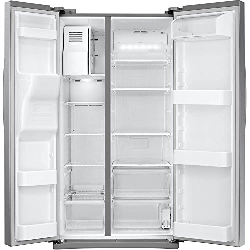 Samsung RS25J500DSR 36' Freestanding Side by Side Refrigerator with...