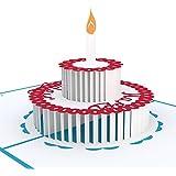 Lovepop Birthday Cake Pop Up Card, 3D Card, Greeting Card, Birthday Card