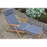 Luxury Garden Steamer Chair Cushion with Premium Filling and Fabric - Cushion Only - Dove Grey