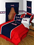 Atlanta Braves MVP Bedding Set-Twin-includes comforter, sheet set, 1 sham, bedskirt, 1 pillow