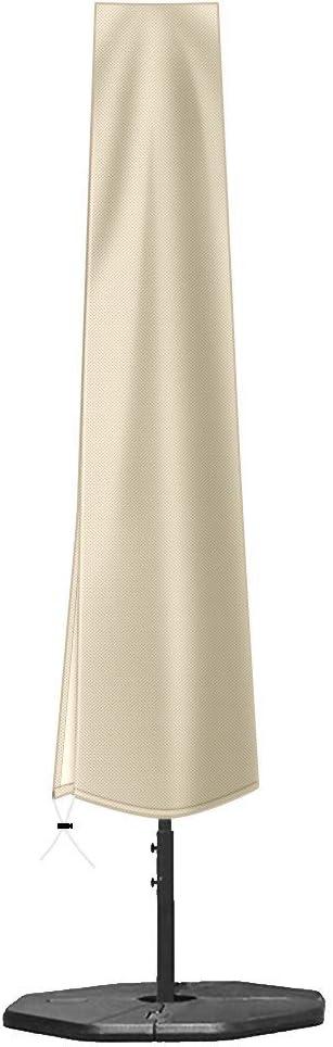 Umbrella Cover,for 7-11ft Patio Umbrella Cover,420D PVC Coating Outdoor Umbrella Cover (74.8 x 11.8 x 19.7inch),Umbrella Covers for Outdoor Umbrellas Waterproof with Zip,Market Umbrella Cover Khaki